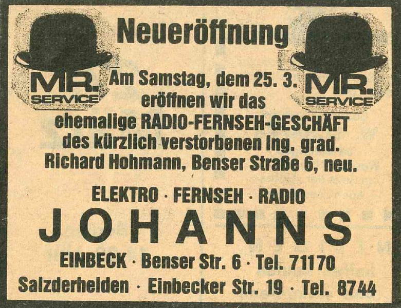 Elektro Johanns Neueroeffnung